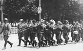 Clique allemande place Bellecour - 1940 (fond CHRD)
