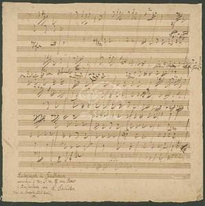 L. van Beethoven, Esquisses de la sonate op. 81a © Beethoven-Haus Bonn