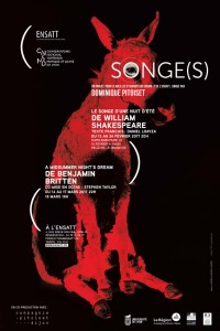 Affiche Songe(s) ENSATT-CNSMD de Lyon