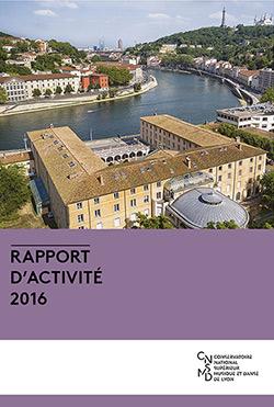 Couverture rapport d'activité 2016