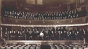 Orchestre et chœurs de la Société des Grands concerts, salle Rameau - 1934