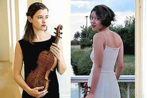 Clara Mesplé et Saskia Niehl, violon