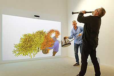 Jean-Marc Foltz et Henri-Charles Caget, colelctif d'improvisation