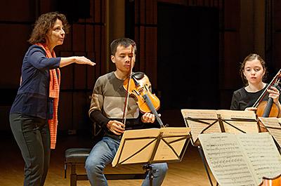 Agnés Sulem et formation de quatuor cordes
